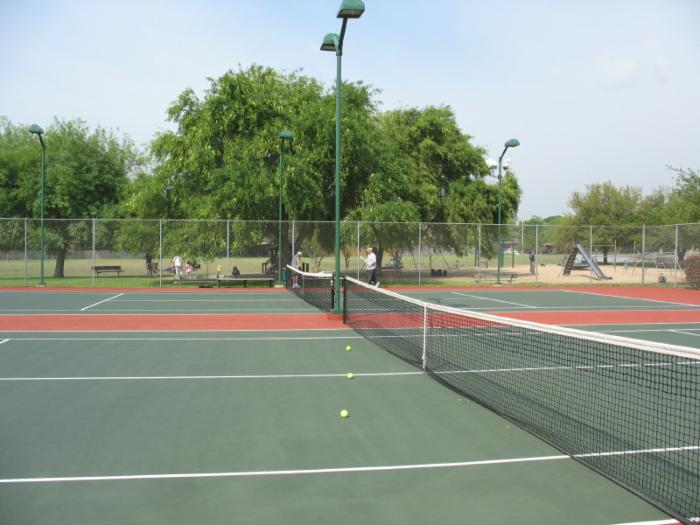 Western Oaks Tennis Court on Woodcreek